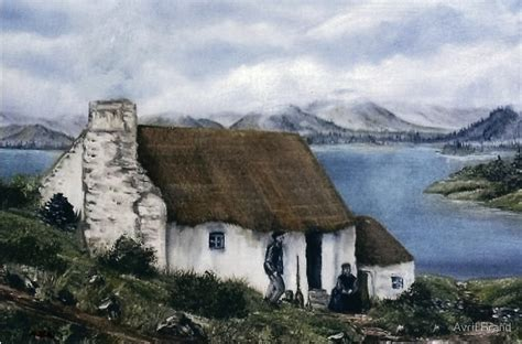 Ireland Cottage by Quot Quot Cottage Quot Quot By Avril Brand Redbubble