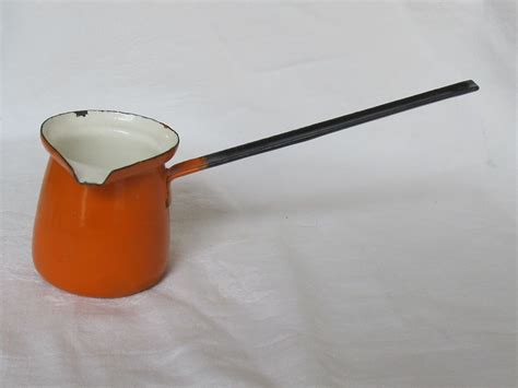 Granite Kitchen Utensils by Vintage Orange Enamel Butter Ladle Handle Dipper Granite