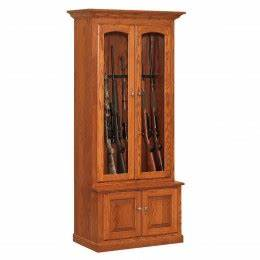Amish Made Wood Gun Cabinets - Wall & Corner Custom Gun