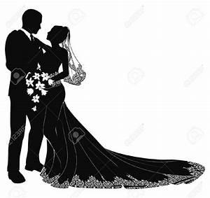 Wedding Couple Kissing Clipart (75+)