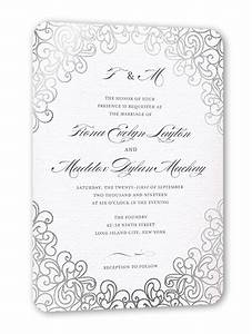 dazzling lace 5x7 wedding invitation cards shutterfly With wedding invitation by shutterfly