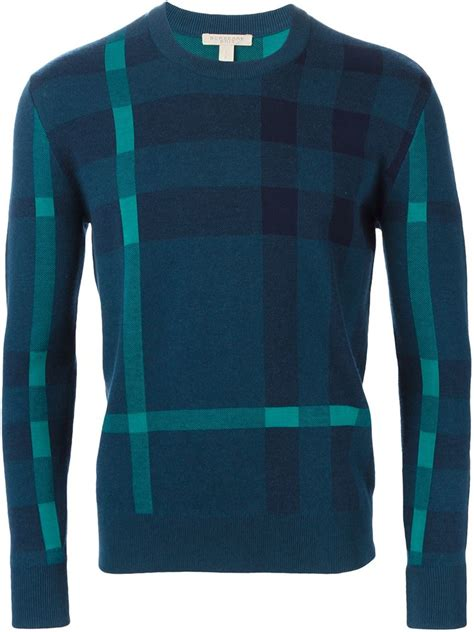 burberry sweater lyst burberry brit 39 redbury 39 sweater in blue for