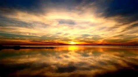 beautiful sunset   relaxing waves hd youtube