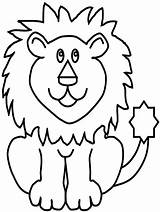 Lion Coloring Pages Animal Forest Fun King sketch template