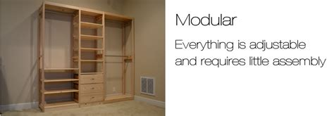 Wood Free Standing Closet by Wood Closet Systems Toxin Free