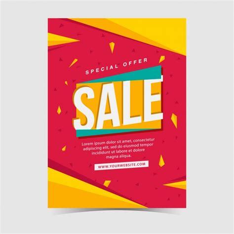 sales poster design vector free download