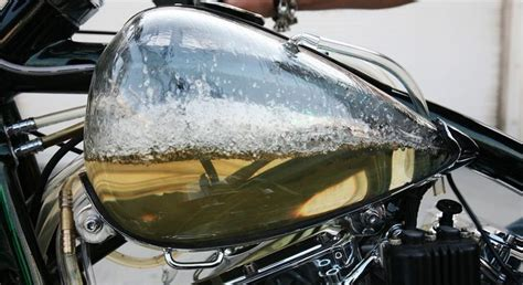 Transparent Motorcycle Gas Tank.