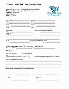 wedding photography agreement free printable documents With wedding photography contract pdf