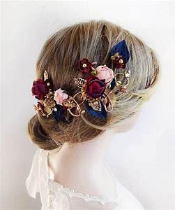 Burgundy Hair Accessories Burgundy And Navy Bridal