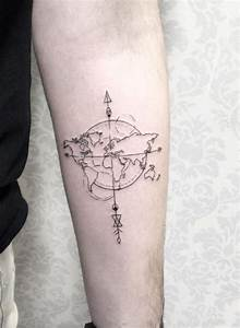 World Map Tattoo - InkStyleMag