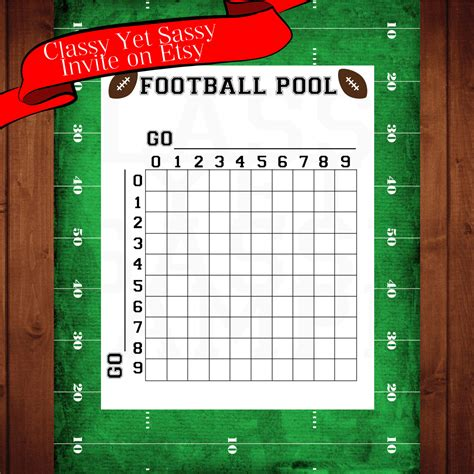 Football Betting Pool Template by Football Pool Football
