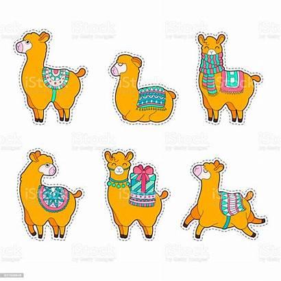 Llama Alpaca Cartoon Lama Sticker Character Alpaga
