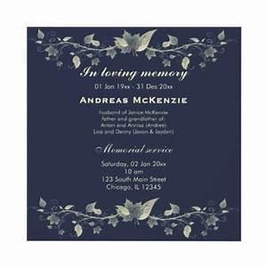 in memoriam cards template - in memoriam announcement from
