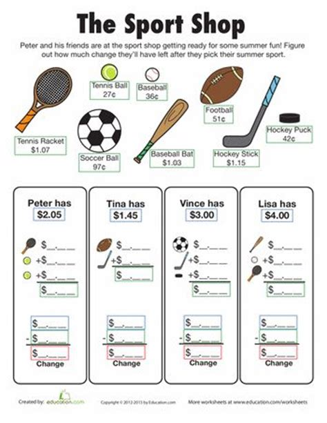 18 best images about pe worksheets on sports