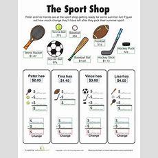 Make Change Sport Shop  Shops, Pets And Worksheets