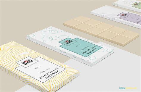 Showcase your designs in these blank mockups that are easy to edit. Chocolate Bar Packaging PSD Mockup Download Free - DesignHooks
