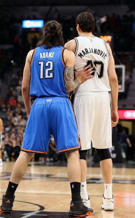 thunders steven adams labels att center aesthetically negative san antonio express news