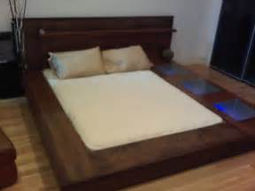 Platform Bed by How To Make A Platform Bed Frame With Storage Underneath