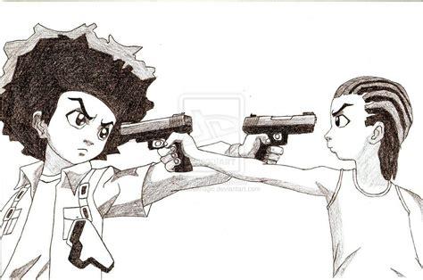 Huey And Riley Freeman By Charcoalmagic On Deviantart
