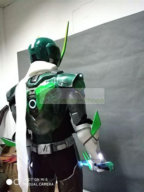 custom cheap overwatch sentai genji full cosplay armor