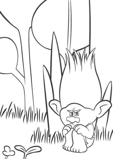 trolls holiday  coloring pages