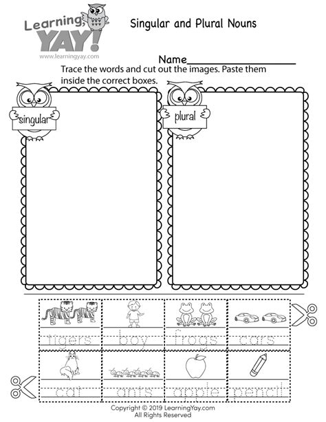 A possessive pronoun is a word that replaces a noun (or a noun phrase) and. Sorting Singular and Plural Nouns Worksheet for 1st Grade ...