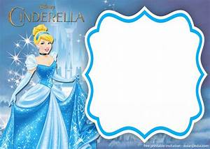 Birthday Card Template Printable Free Printable Cinderella Royal Invitation Templates