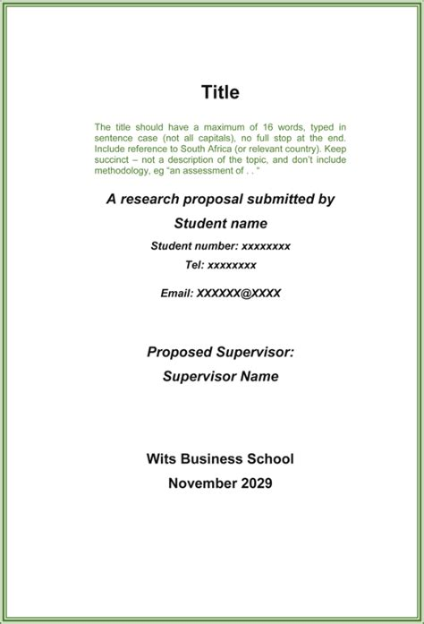 research proposal templates examples word