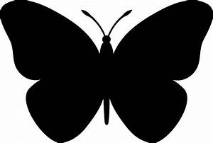 Simple Black Butterfly Clipart