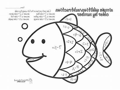 Math Coloring Grade Addition Pages Colouring Subtraction