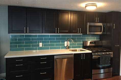 Hometalk   Turquoise Subway Tile Backsplash