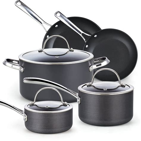 cookware sets anodized hard cooks