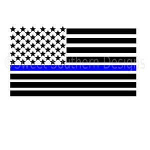 American Flag Thin Blue Line Flag
