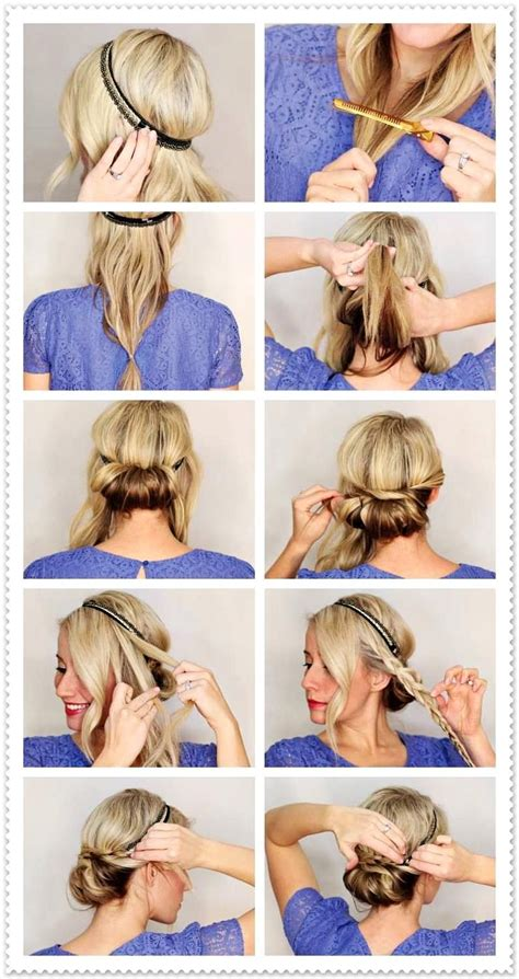 Beste Frisuren mit Haarband anleitung eindrehfrisur zopf