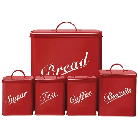 cheap kitchen canister sets 5 canister set bread bin sugar coffee tea biscuits