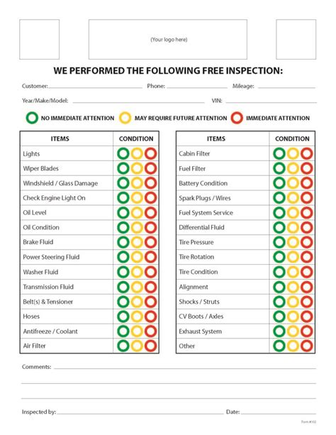 regular car maintenance checklist  spreadsheets