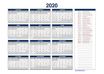 thailand yearly calendar template excel