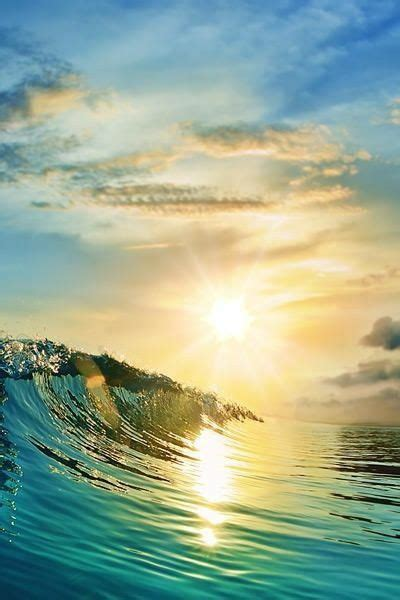 Awesome Wave With A Beautiful Sunset Cant Get Any Better