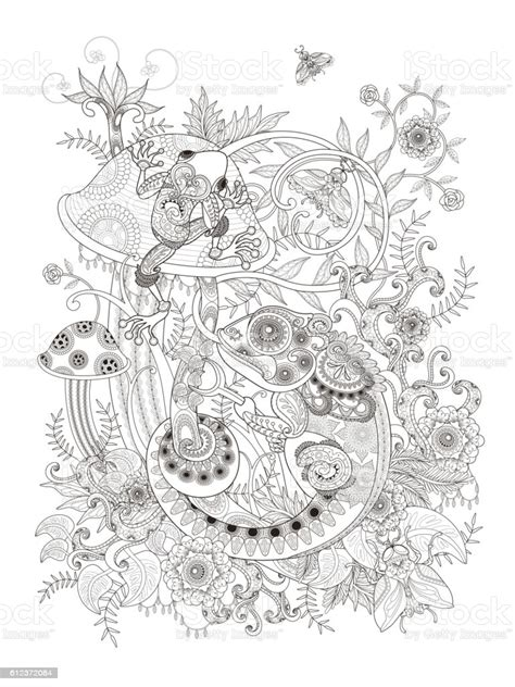 gorgeous adult coloring page stock illustration  image  istock