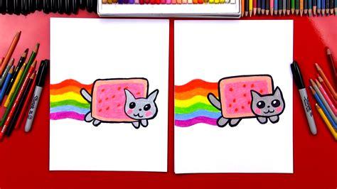 draw  nyan cat art  kids hub