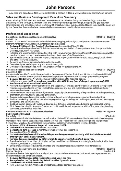 Business Resume by Resume Exles By Real Business Development