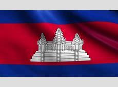 Animated Flag Of Cambodia Seamless Loop Stock Footage