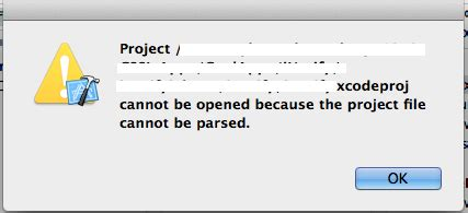 iphone cannot be synced because it cannot be found iphone unable to open project cannot be opened