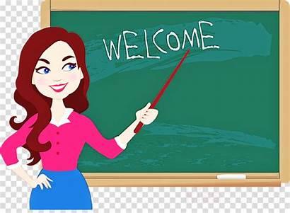 Teacher Blackboard Clipart Cartoon Whiteboard Rectangle Clipground