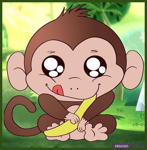 draw  baby monkey step  step forest animals