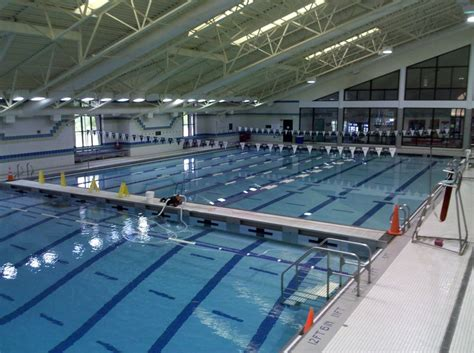 Diving Well (foreground) And Lap Area (background) Of Main