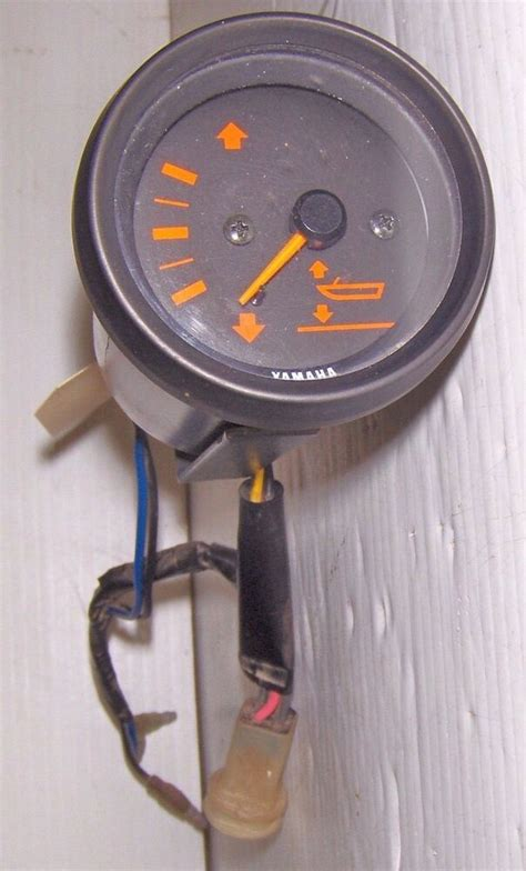 Yamaha Trim Gauge Round With Black Orange Sender
