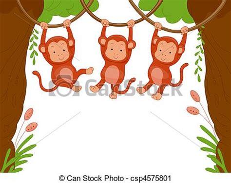 덩굴 앞뒤로 흔들림 3 배경 원숭이 클립아트 일러스트 도면 그리고 벡터 eps 그래픽 이미지 검색 csp4575801