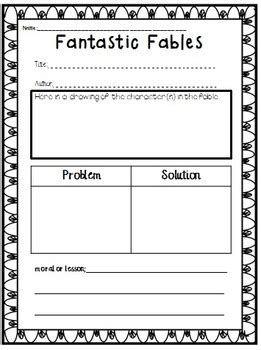 fable worksheets tales folktales and fables common aligned