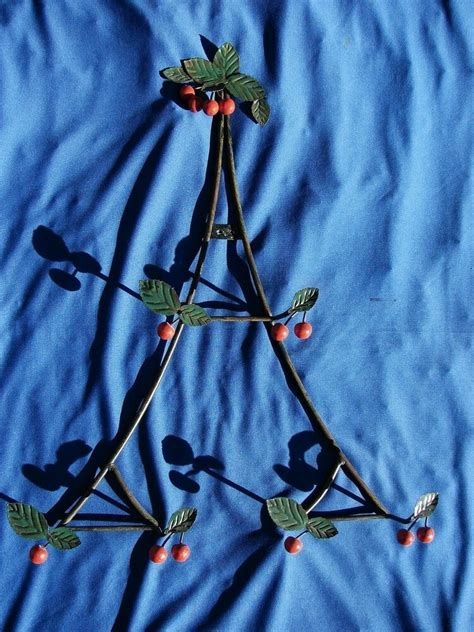 wall plate holder rack metal cherries leaves kitchen decor unbranded wall plate holder